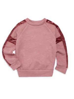 Little Girl's & Girl's Velvet-Trimmed Sweatshirt