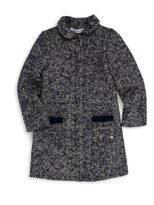 Little Girl's Chic Tweed Coat