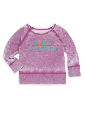 Baby Girl's, Little Girl's & Girl's Girl Power Burnout Sweatshirt