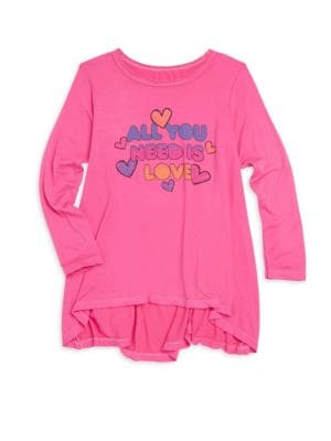 Baby's, Little Girl's & Girl's All You Need Is Love Tee