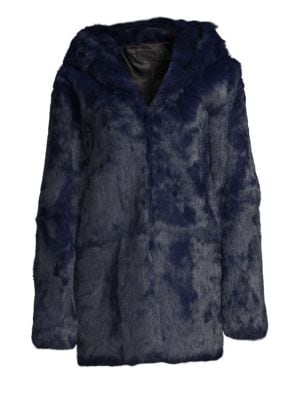 Henri Hooded Rabbit Fur Jacket