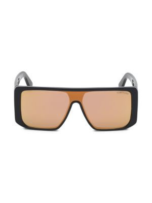 TOM FORD | Atticus Geometric Shield Sunglasses | Goxip