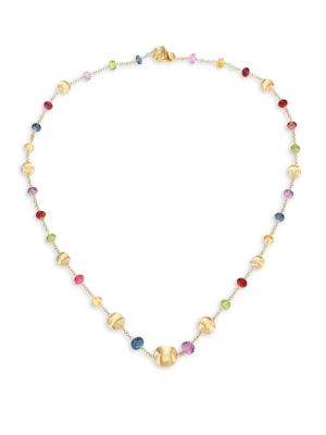 MARCO BICEGO 18K Yellow Gold & Mixed Gemstone Necklace