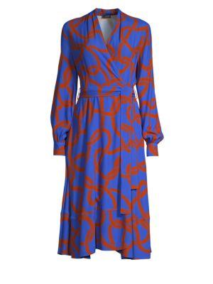 STINE GOYA Reflection Maze Wrap Dress