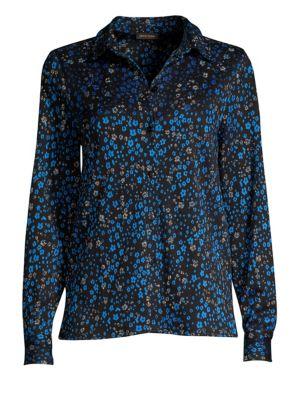 Lucian Floral Button-Down Blouse