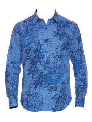 Rowe Tropical Print Button-Down Shirt