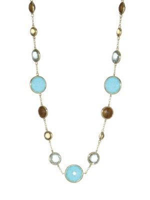 18K Lollipop Lollitini Multi-Stone & 18K Yellow Gold Short Necklace