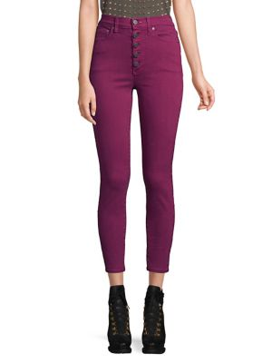 AO.LA BY ALICE + OLIVIA | Good For One High-Rise Skinny Jeans | Goxip