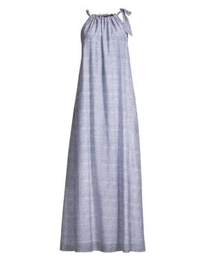 ROLLER RABBIT Capellini Silk-Blend Tied Maxi Dress