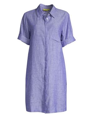 ROLLER RABBIT Angela Chambray Linen Shirtdress