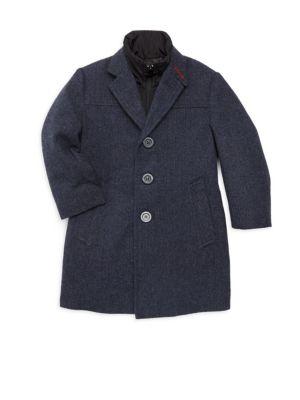 Little Boy's & Boy's City Overcoat