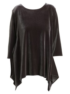 Plus Blue Becomes You Velvet Swing Tunic