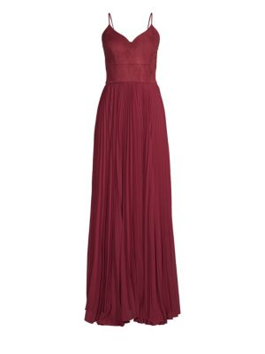 Suede & Chiffon Bustier Gown