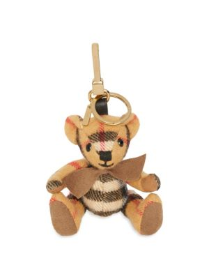 Vintage Check Cashmere Thomas Bear Key Ring