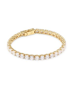 18K Goldplated Sterling Silver Tennis Bracelet