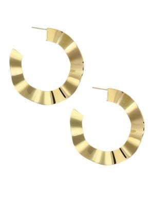 Wanda Goldplated Hoop Earrings