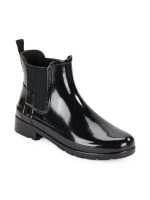 Original Refined Gloss Rubber Ankle Rain Boots