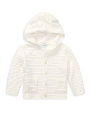 Baby Boy's Combed Cotton Animal Hoodie