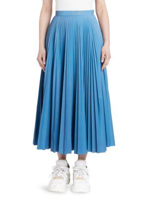 MAISON MARGIELA Reflective Pleated Midi Skirt