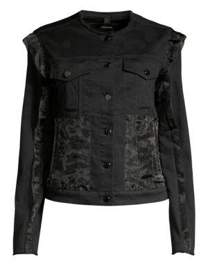 Slim-Fit Organza Denim Jacket
