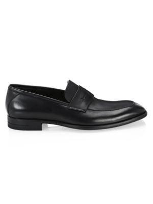 ERMENEGILDO ZEGNA | Flex Leather Penny Loafers | Goxip