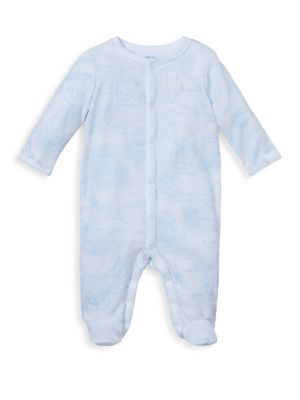 Baby Boy's Toile-Print Footie