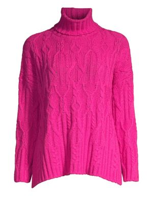 WEEKEND MAX MARA Cons Gary Cable-Knit Turtleneck