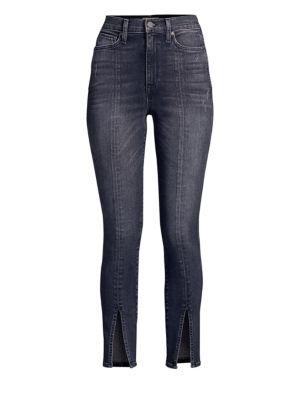 AO.LA BY ALICE + OLIVIA | Good High-Rise Split Hem Skinny Jeans | Goxip