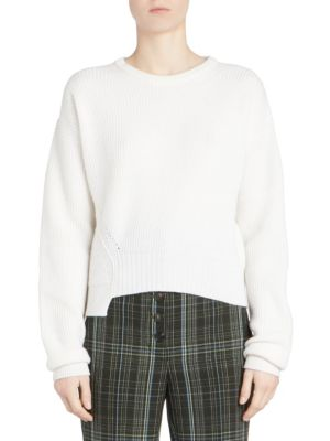CARVEN Asymmetric Cashmere & Wool Knit Sweater