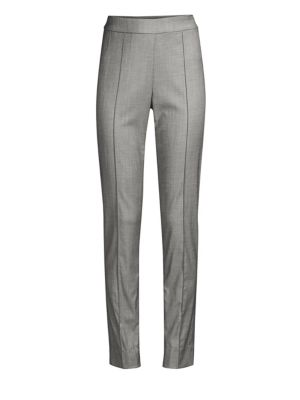 Shark Skin Stretch Wool Suiting Pants