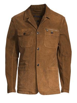 Garment Dye Long-Sleeve Corduroy Jacket