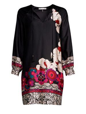Alabaster Floral Print Shift Dress