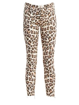 MOTHER Looker High-Rise Animal Jeans