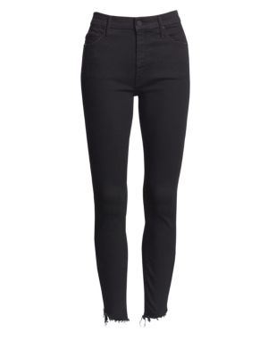MOTHER Stunner Skinny Zip Ankle Jeans