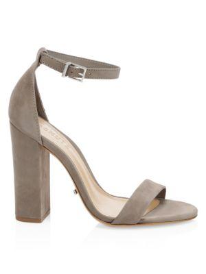Enida Suede Block-Heel Sandals