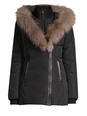 Adali-X Fox Fur Collar Down Coat