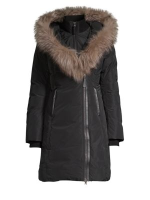 MACKAGE Fox Fur Collar Down Coat