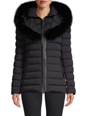 MACKAGE Fox-Fur Trimmed Down Jacket