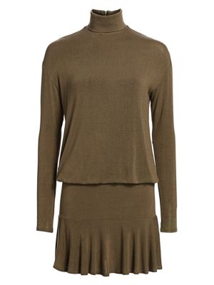 Anastasia Ruffle-Hem Sweater Dress