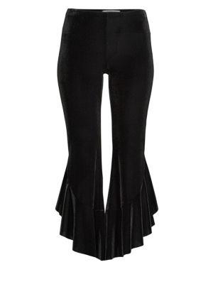Velvet Flounce Flare Pants from Saks Fifth Avenue