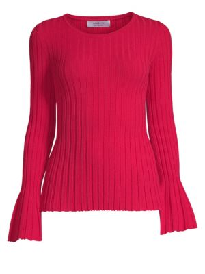 Cossak Bell-Sleeve Ribbed Sweater from Saks Fifth Avenue