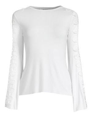 Romanov Bell-Sleeve Lace Top from Saks Fifth Avenue