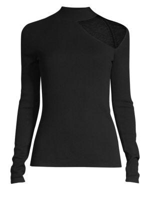 BAILEY44 Svetlana Choker Cutout Sweater