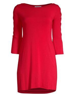 BAILEY44 Lace Up Mini Dress