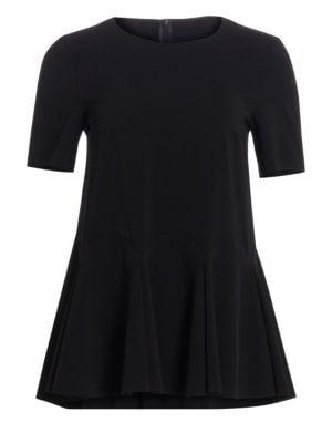 Short-Sleeve Peplum Blouse