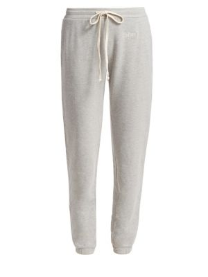 Embroidered Cotton-Blend Sweatpants