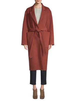BECKEN Wool Felt Belted Coat