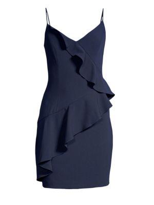BLACK HALO Kim Ruffled Sheath Dress