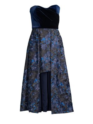 BLACK HALO Caine Embroidered High-Low Dress