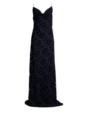Bessette Burnout Velvet Gown